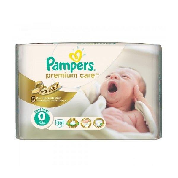 Pampers  Бебешки пелени-памперс CP S0 PremCare Newborn /до 2,5 кг/ 30 бр.  0202107